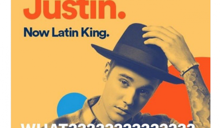 Spotify Pulls Ad Calling Justin Bieber a 'Latin King' After Major Backlash